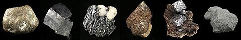 algodonite, bismuthinite, bismuth, domeykite, bournonite, jamesonite, capgaronnite, chalcocite, digenite, fizelyite, chalcostibite, galena, galkhaite, hutchinsonite, luzonite, livingstonite, luanheite, nickeline, renierite, rheniite
