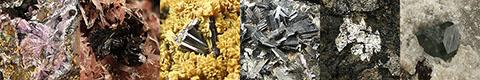 boracite, breithauptite, cassiterite, ferrotapiolite, fluorite, hibonite, hubeite, hutchinsonite, kidwellite, messelite, nadorite, naujakasite, pyrite, redledgeite, semseyite, spinel, strengite, tyuyamunite, and varennesite